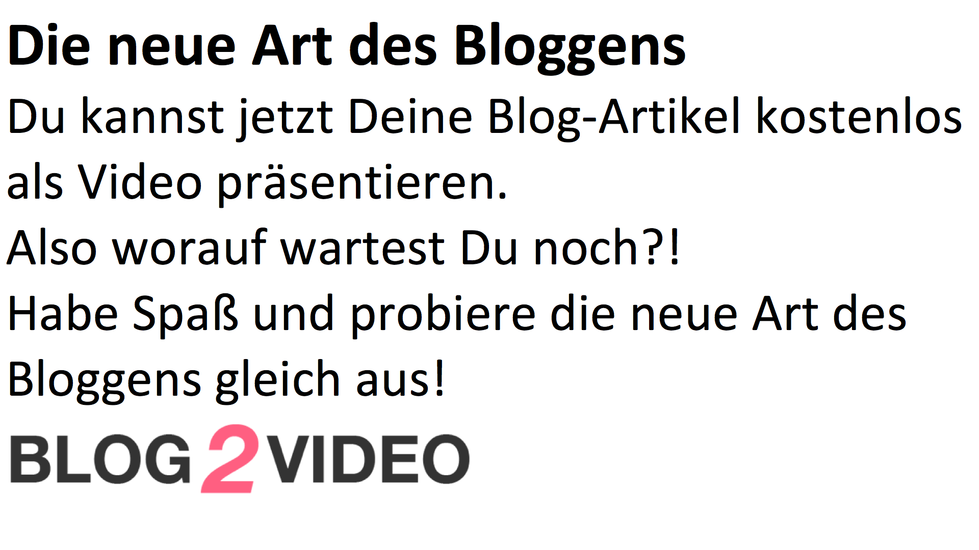 Blog-to-Video Text